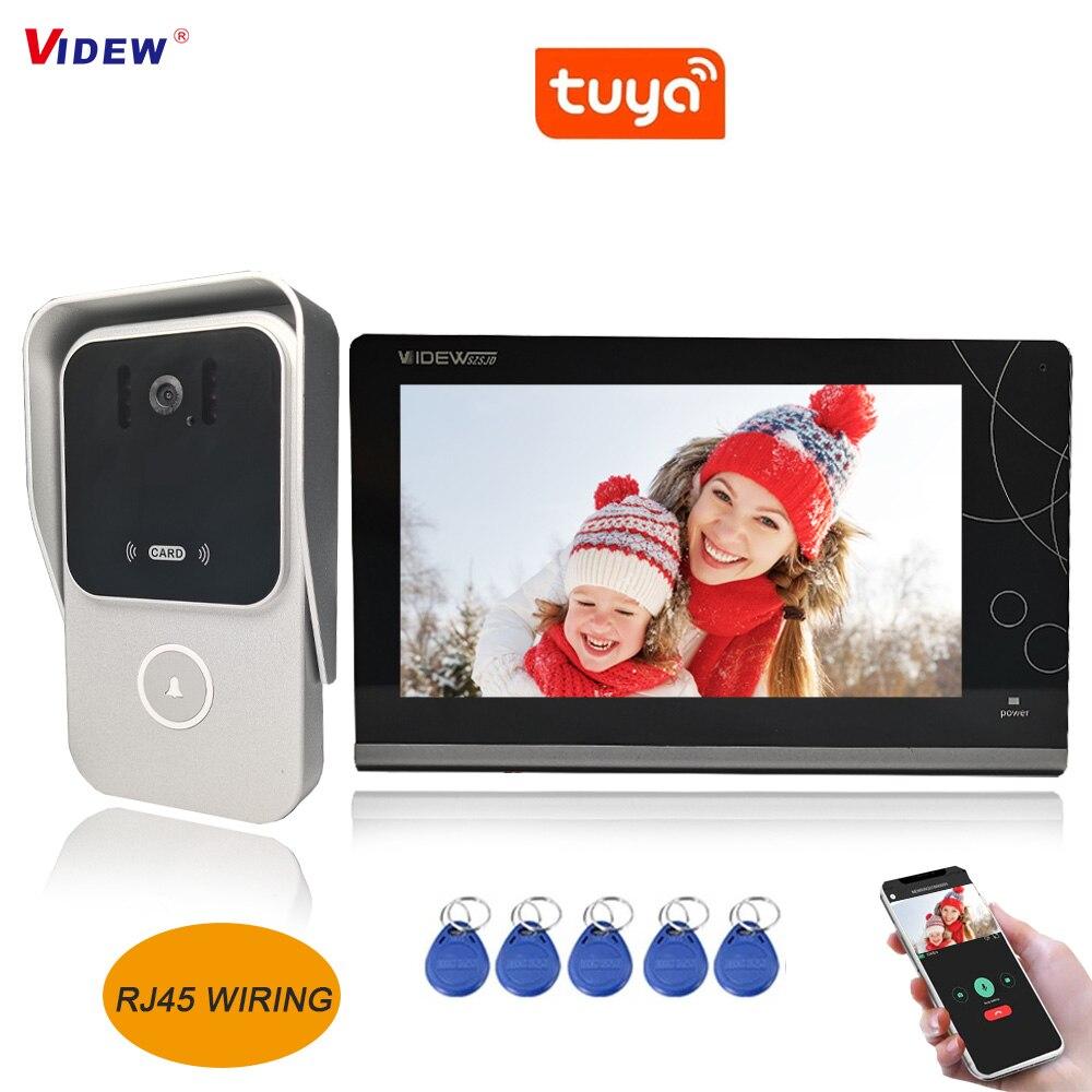 VIDEW Doorbell Camera Video Intercom System with 7 Inch HD Monitor Tuya Smart Night Vision Door Entry System RFID for Villa