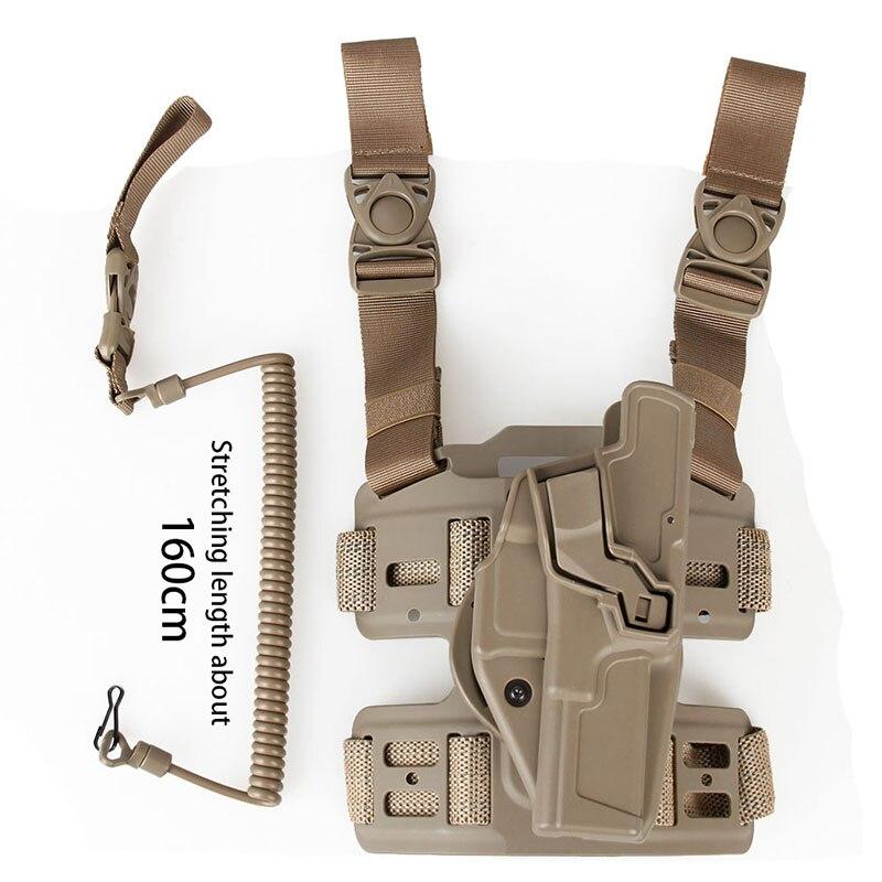 Funda de Clip para equipo táctico PPT con plataforma de pierna rotación de 360 grados para pistola de aire Glock 17 HS7-0050 de caza