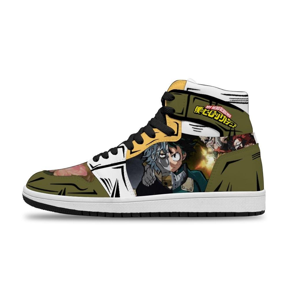 بلدي بطل الأكاديمية Diy بها بنفسك تأثيري الساخن رسوم متحركة أنيمي يابانية تشغيل عدم الانزلاق الترفيه حذاء للرجل للجنسين الاتجاه أحذية رياضية
