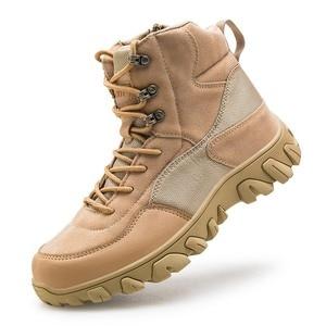 Уличные тактические армейские ботинки, мужские водонепроницаемые нескользящие носки для походов, мужские пустынные армейские сапоги, Воен...