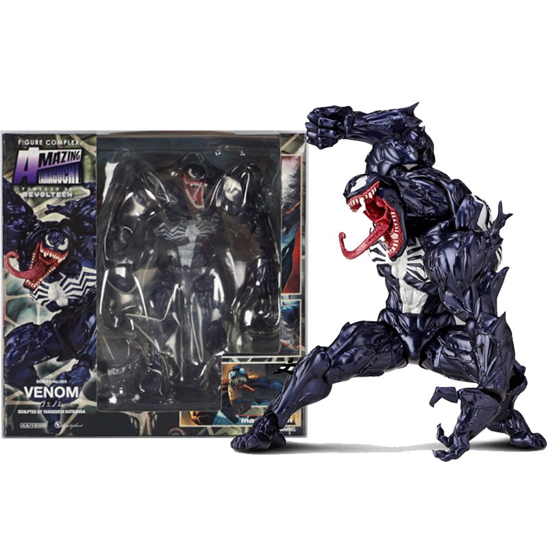 Marvel Character Venom in Movie The Amazing Spiderman BJD Figure Model Toys 18cm