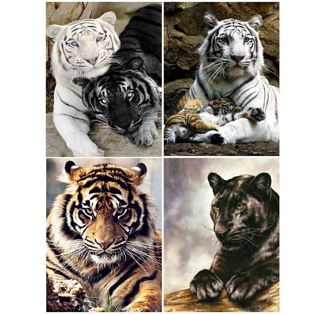 KAMY YI Bricolage Diamant Peinture Animal 5D Diamant De bordado Tigre Plein...