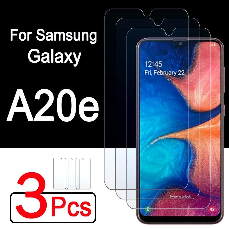 3 peças de vidro protetor para samsung a20e proteger o filme galaxy a 20e 20 e protetor de tela para samsumg a20 e vidro temperado