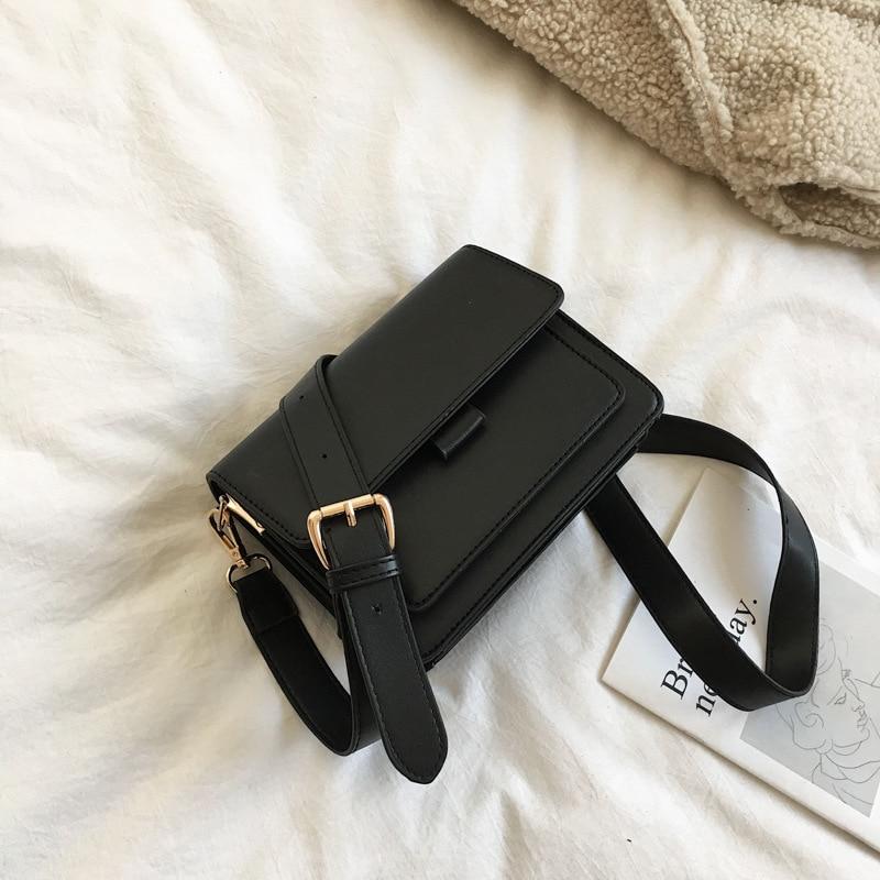 RanHuang New Arrive 2021 Fashion Women's Small Shoulder Bags Pu Leather Messenger Bags Brief Flap Crossbody Bags bolsa feminina