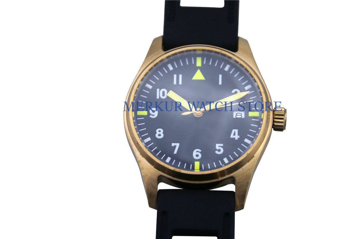 Reloj para hombre automático NH35 movimiento bronce puro sin logotipo buzo Super luminoso 200M
