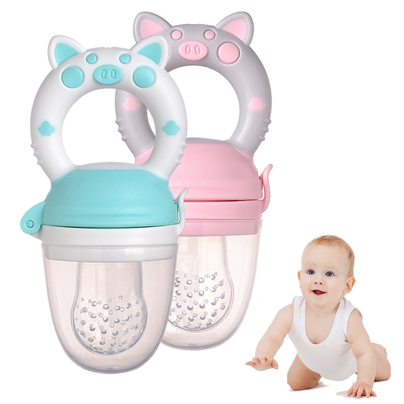 Baby Feeder Nibbler Silicone Fresh Food Kids Boy Dirl Fruit Nipples Feeding Safe Baby Supplies Nipple Infant Soother Bottles