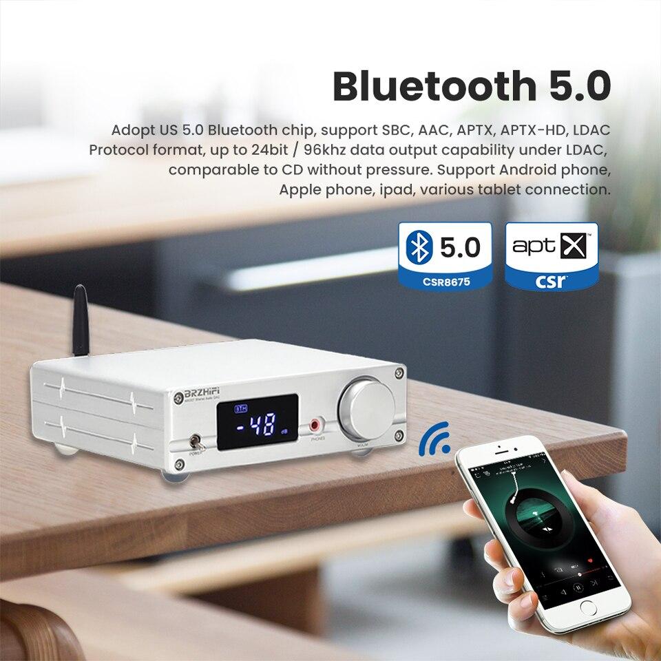 Brzhifi Nxc07 Es9038q2m Digital Audio Decoder Csr8675 Bluetooth 5 0 With Ak4113 Chip Decoder Headphone Amplifier Supports Ldac Amplifier Aliexpress