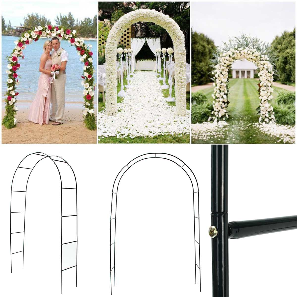 الحديد الزفاف قوس ديكور حديقة خلفية العريشة الوقوف زهرة الإطار للزواج حفل زفاف وعيد ميلاد الديكور لتقوم بها بنفسك قوس
