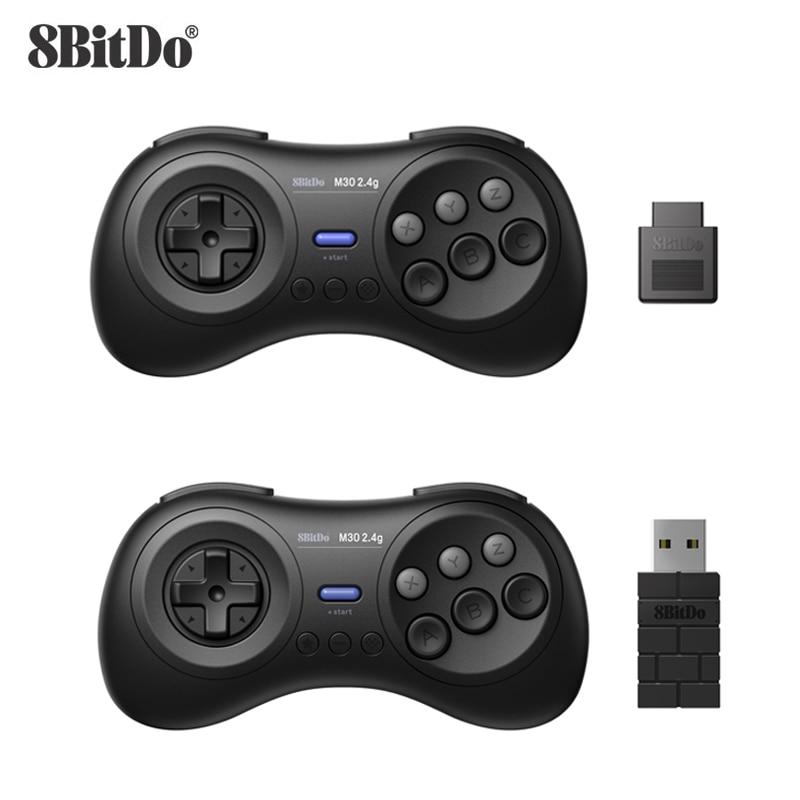 8BitDo-M30 Gamepad لـ Sega Genesis ، وحدة تحكم ألعاب لاسلكية 2.4G ، لـ Sega Genesis ، giga ، Mini و Mega Drive ، Mini - Sega Genesis
