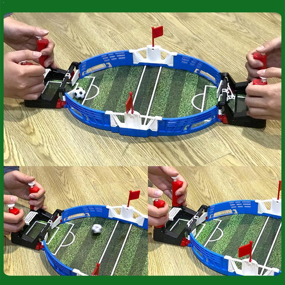 Nieuwe Mini Indoor Tafelvoetbal Kinderen Atletiek Speelgoed Dubbele Voetbal Athletic Battle Sport Z4U3