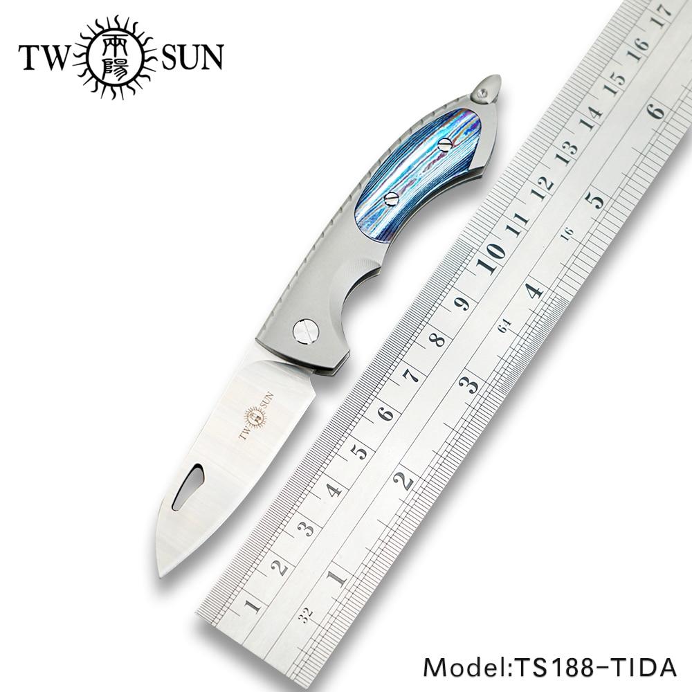 De couteau de poche se pliant EDC v de couteau de camping de poche de camping de se se se, il y a la la TS188-TIDA de titane