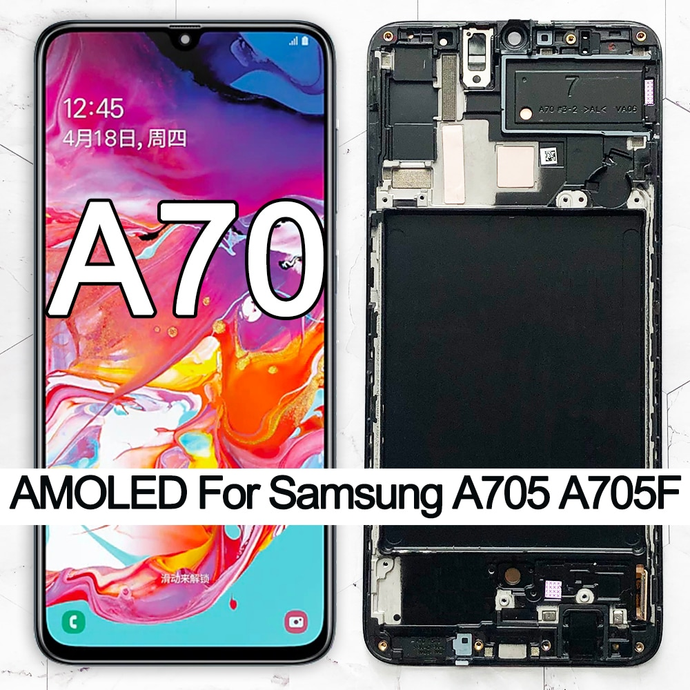 Pantalla LCD ORIGINAL de 6,7 SUPER AMOLED para Samsung Galaxy A70 LCD A705 A705F SM-A705MN pantalla táctil digitalizador Asamblea