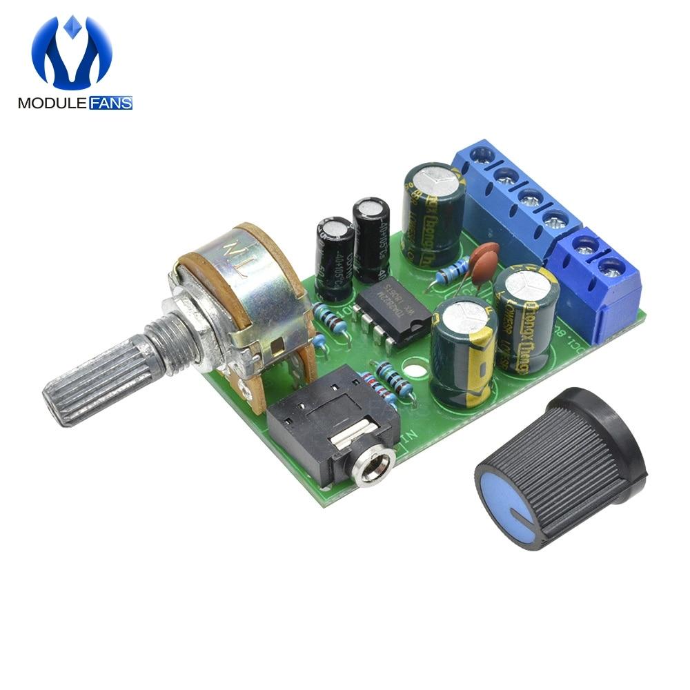 Placa amplificadora TDA2822M TDA2822 DC 1,8-12 V 2,0 canales estéreo Mini tarjeta de audio auxiliar módulo amplificador