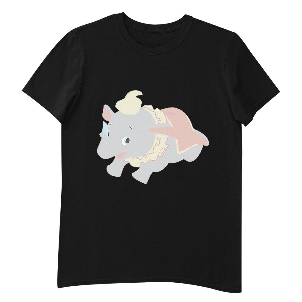 Disney Dumbo Elephant Printed T-Shirt Girls Harajuku Fashion 7 Colors Tshirts Casual Tee Shirt Femme Gothic T Shirt Women