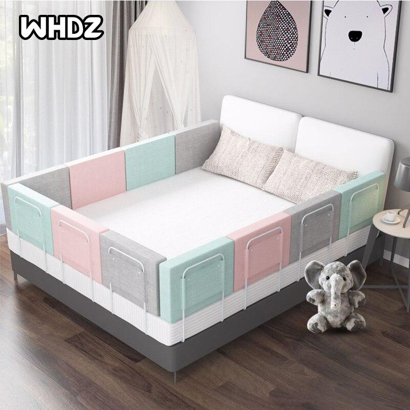 Высокий бампер для детской кровати, направляющая для детской кроватки, регулируемый противоударный забор для детской кровати, основной мяг...