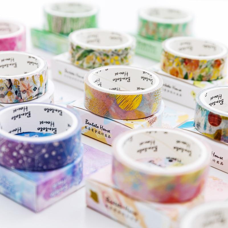 laser Gilding Decorative Washi Tape Adhesive Tape DIY Scrapbooking Sticker Label Masking Tape
