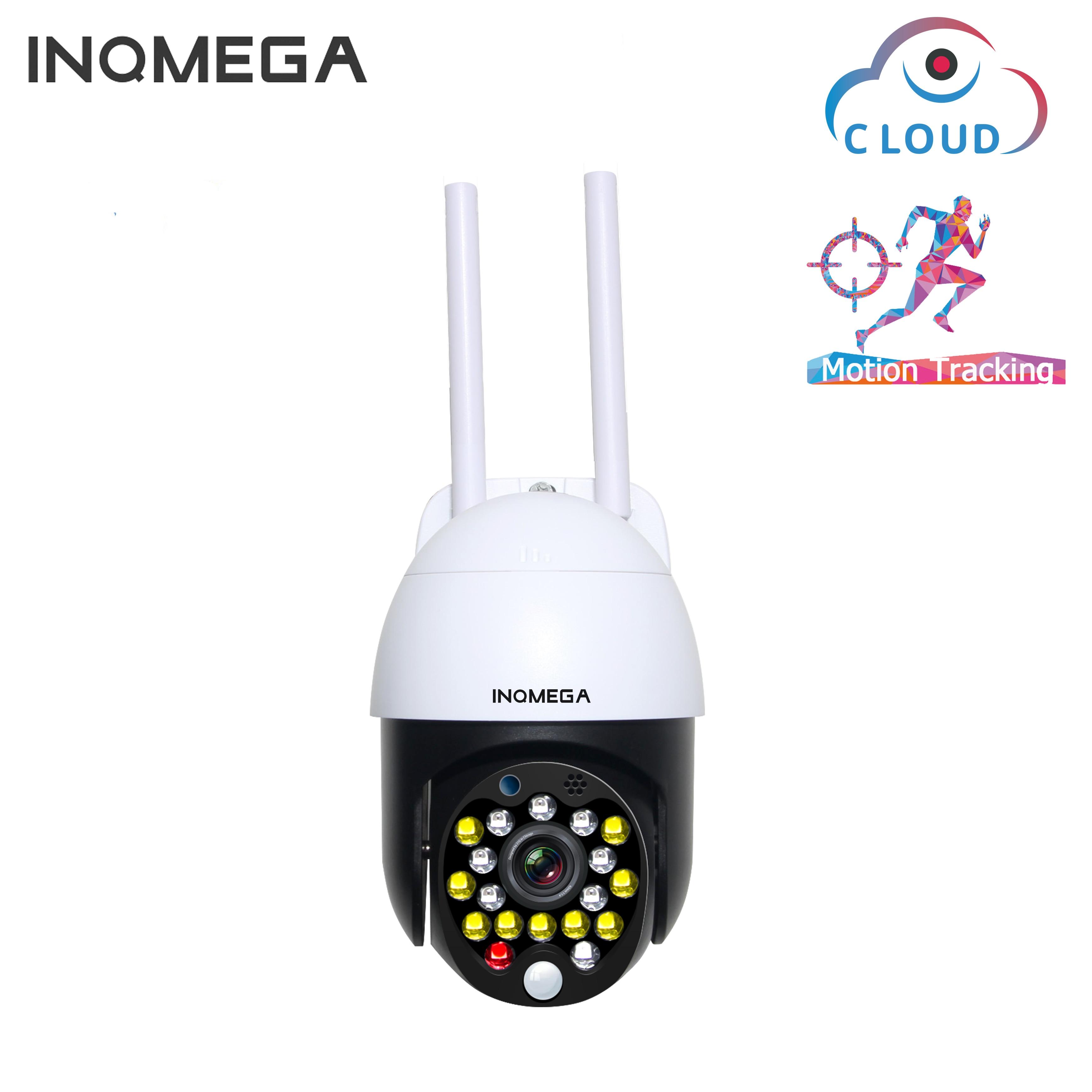 INQMEGA 1inch Mini 2.4MP Outdoor PTZ Speed Dome Wifi Camera Cloud Auto-Tracking Camera ONVIF Wireless Home Surveillance IP Camer