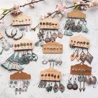 sundry bundles of 2020 fashion women vintage boho earrings dangler eardrop sets jewelry accessories