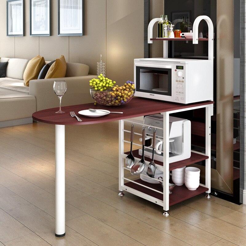 رف متعدد الوظائف للميكروويف/الفرن ، منظم تخزين يومي للمطبخ ، مساحة كبيرة ، طاولة بار ، أثاث المطبخ