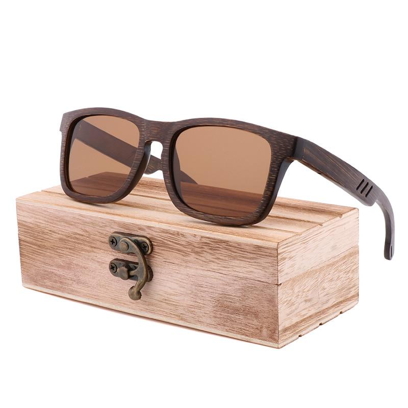 2020 النظارات الشمسية الرجال الاستقطاب UV400 جودة عالية الرجعية الرجال النظارات الشمسية النساء اليدوية الخيزران الخشب نظارات Gafas دي سول hombre