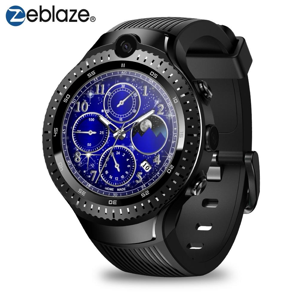Zeblaze Thor 4 Dual 4G Smartwatch 5.0Mp+5.0Mp Dual Camera 1.4 Aomled Gps/Glonass 1Gb+16Gb Smart Watch Men