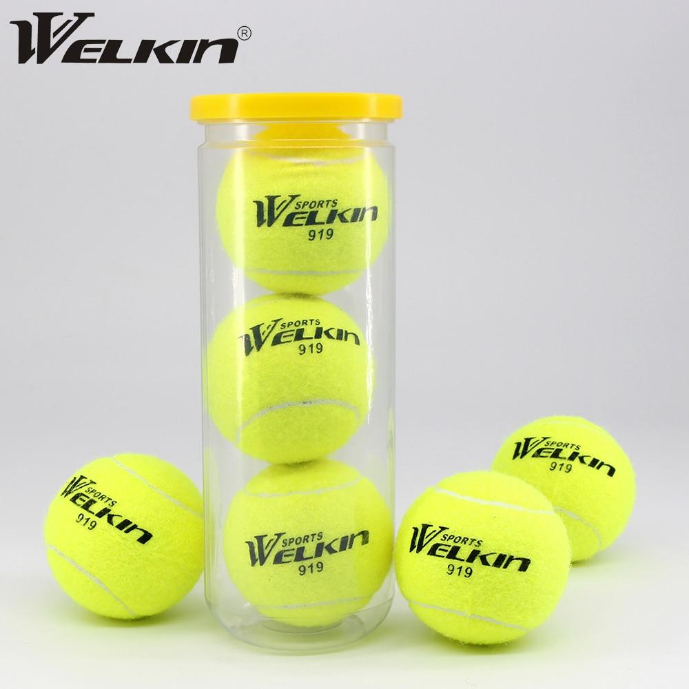 Профессиональные теннисные мячи WILKIN 919, тренировочные теннисные мячи, высокоэластичные сопротивляющиеся спортивные теннисные мячи, 3 шт. в ...