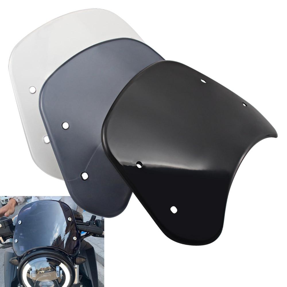 Instrumento de parabrisas Retro para motocicleta, Visor Deflector de viento, accesorios protectores para Benelli Leoncino 250 500, modelos de rastreo