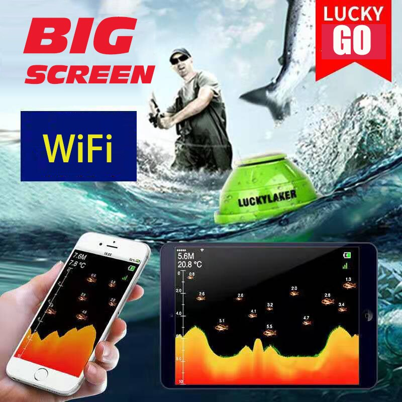 45m sonar underwater sounder sonar mobile phone fish finder WIFI wireless connection mobile phone fi