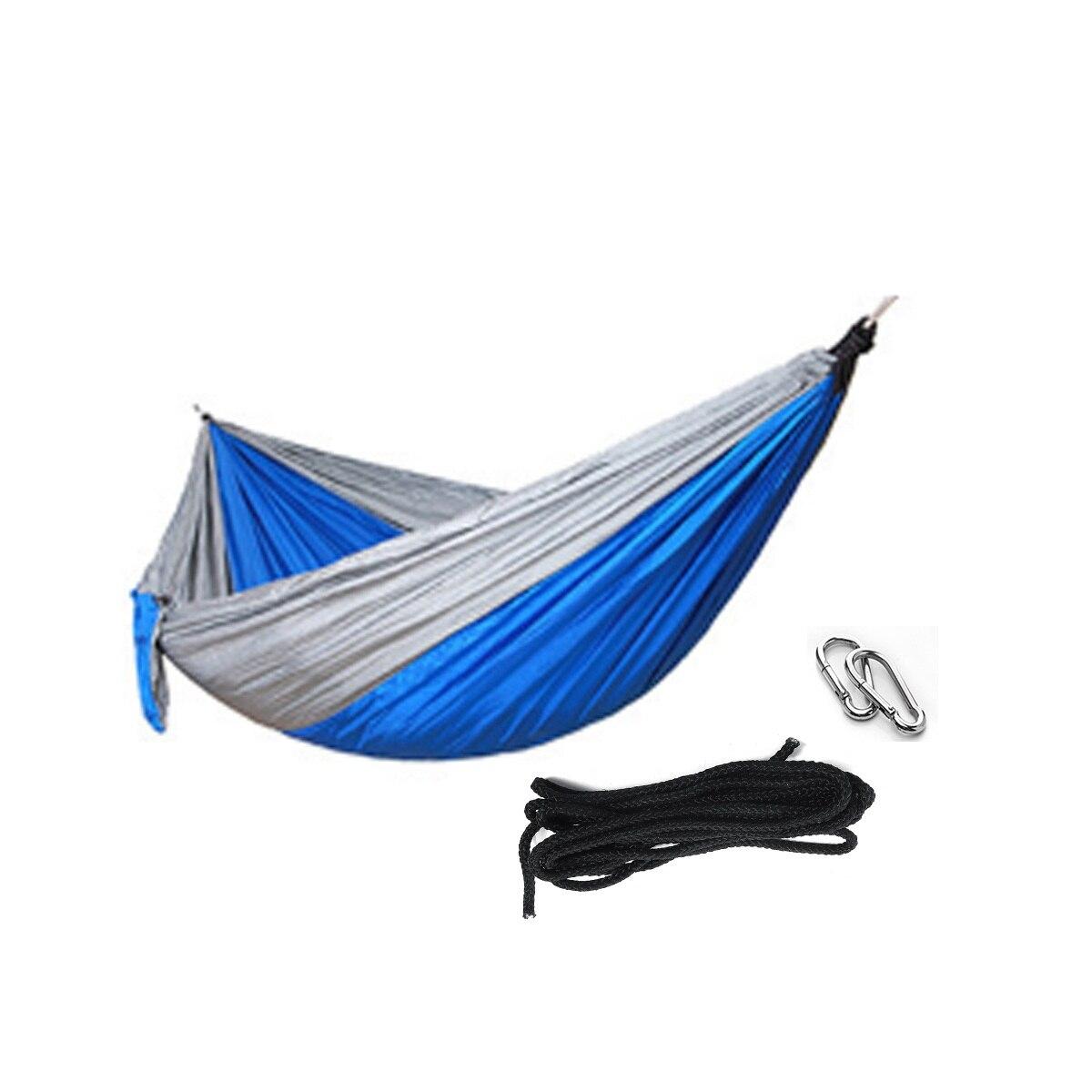 غاري والأزرق أرجوحة في الهواء الطلق أثاث المنزل حديقة معلقة كرسي واحد مزدوج السفر التخييم أرجوحة سرير أرجوحة