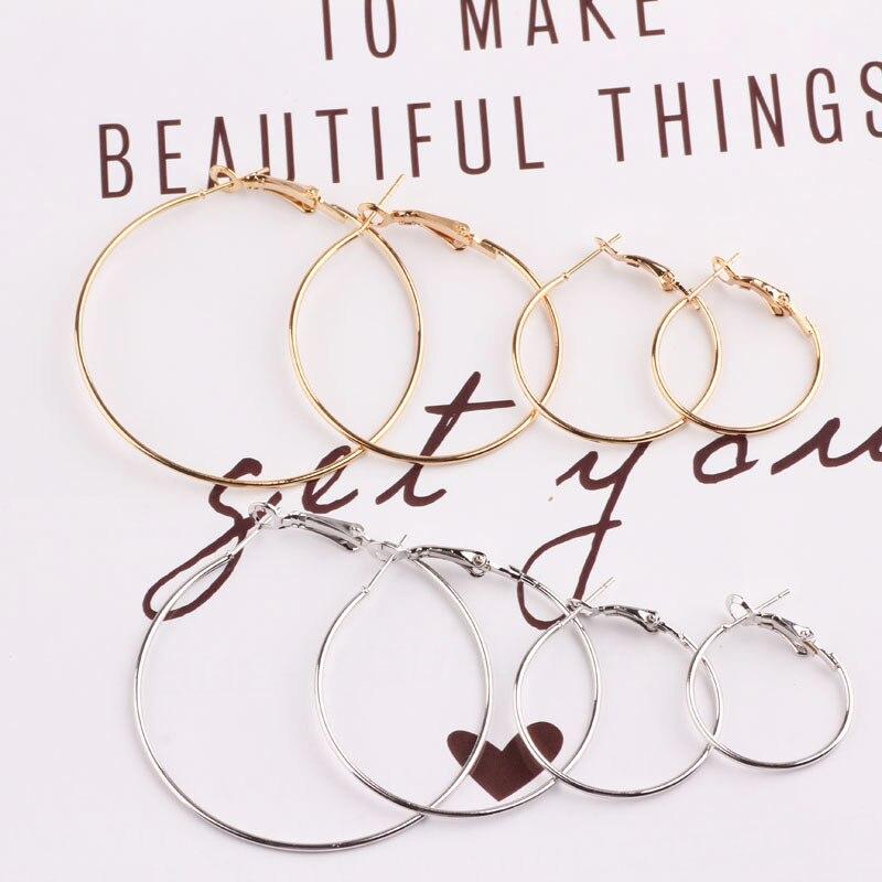 Boucles doreilles surdimensionnées grand cercle pour femmes Simple Style Punk Brincos boucles doreilles rondes bijoux de fête cadeau