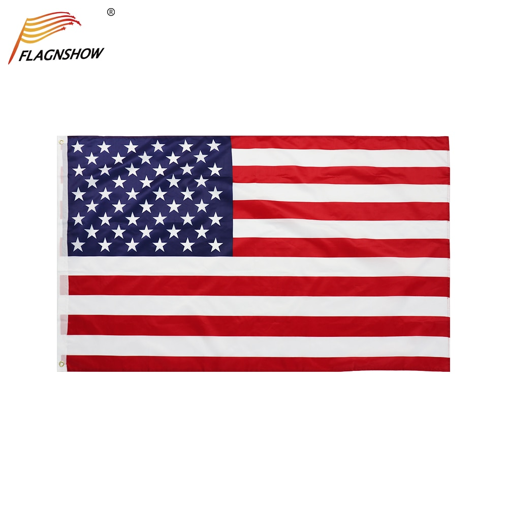 Flagnshow American Flags National Country Flag 3x5 FT Polyester Decoration Banner USA America Flag недорого