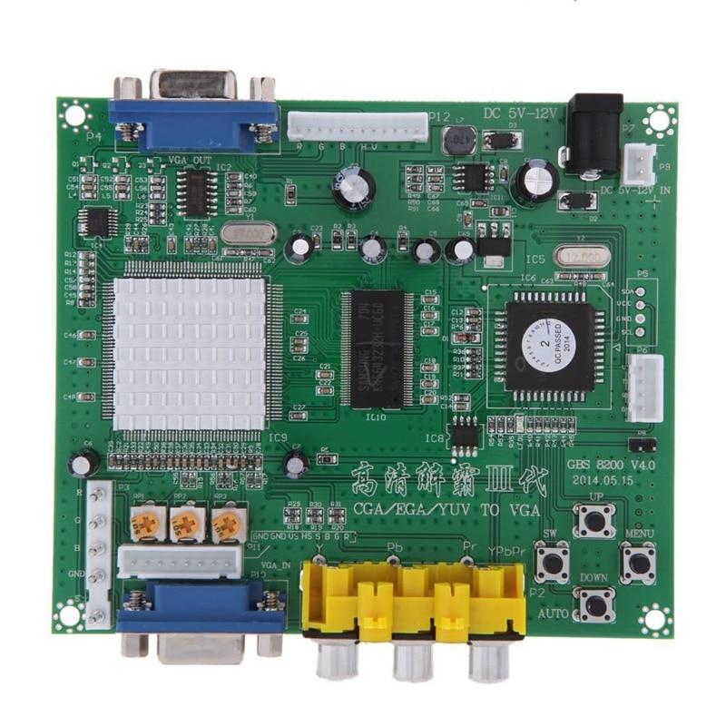 GBS8200 1 Channel Relay Module Board CGA / EGA / YUV / RGB To VGA Arcade Game Video Converter for CRT Monitor LCD Monitor PDP Mo