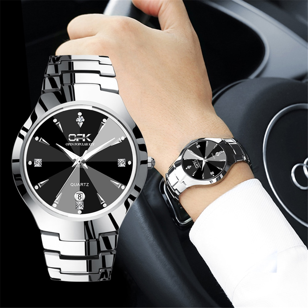 Relojes 2020, reloj para hombre OPK, reloj deportivo de cuarzo a la moda de la mejor marca, reloj impermeable de acero inoxidable, reloj Masculino