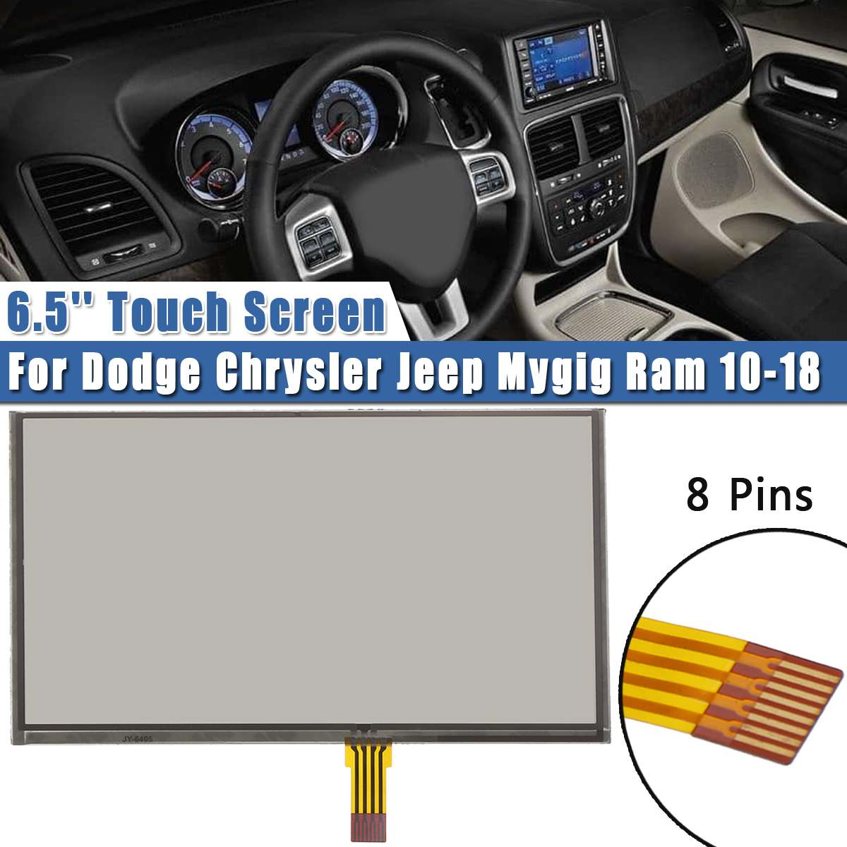 6.5inch Navigation Glass Touch Screen panel Digitizer Lens panel For Dodge Chrysler for Jeep Mygig f