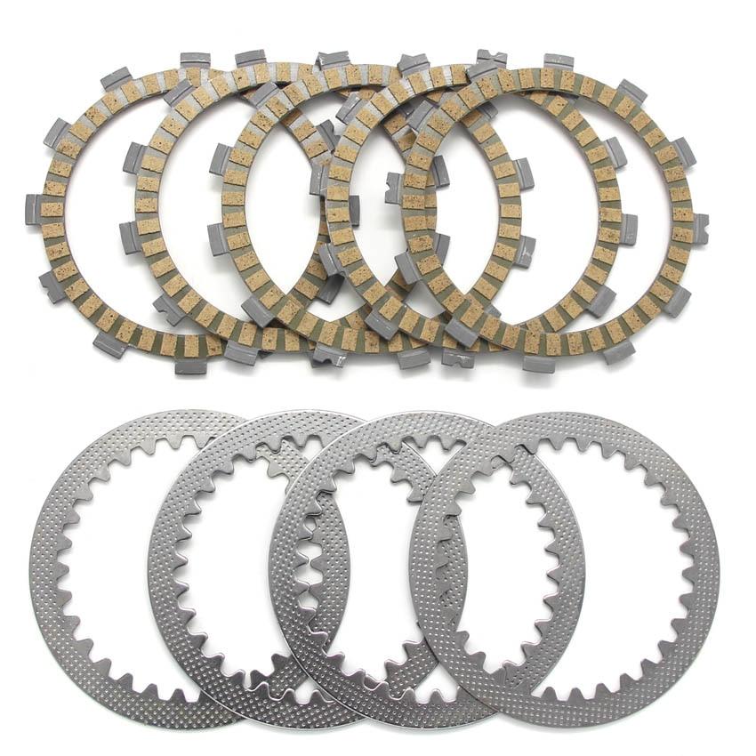 Placas de disco de fricción de embrague para Suzuki TS125 ERZ N DR125 DR200 RV200 K2/K3 para Kawasaki KLX125 para SACHS XTC125 X Road 125