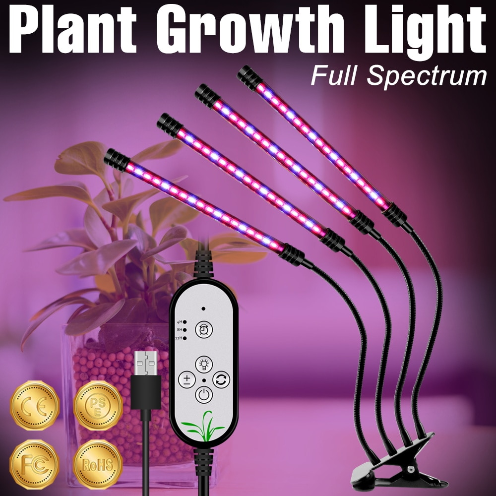 new 2 heads led grow light dual head 18w plant grow lamp led fitolampy with double on off switch for hydroponics grow system LED Grow Lamp USB Phyto Light Full Spectrum Plant Bulb DC5V LED Phytolamp For Indoor Hydroponics Seedlings Fitolampy Grow Tent