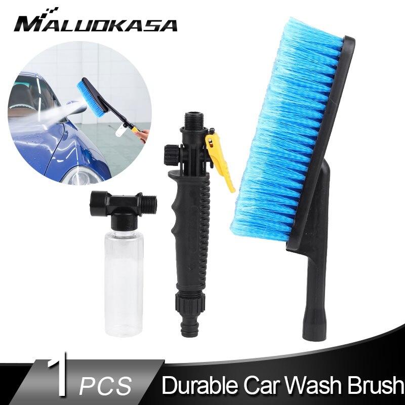 Pistola de lavado de coches, herramienta de limpieza de botellas de espuma, pistola de lavado en seco para coches, cepillo de lavado automático