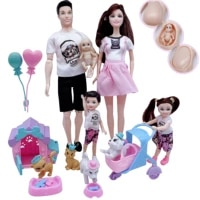 5 person family combination 11 5 5 dolldaddymothergirlboypregnant woman puppykitten game childrens educational toys