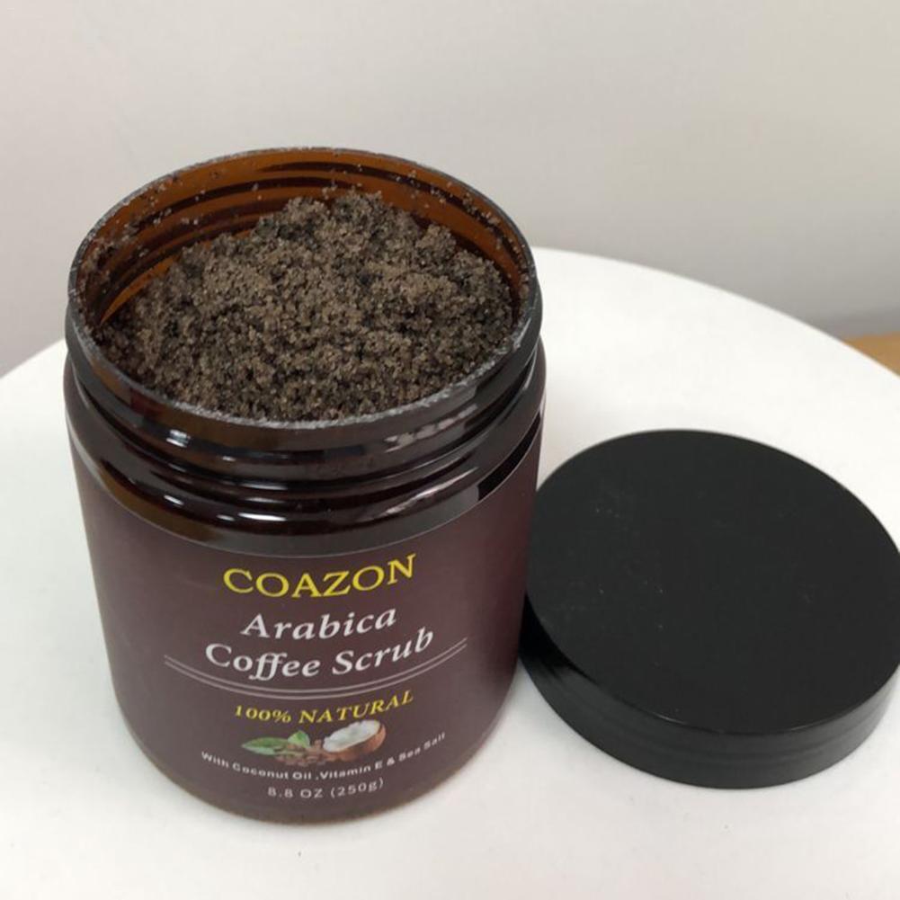 250g Coffee Scrub Body Scrub Cream Facial Dead Sea Salt For Exfoliating Whitening Moisturizing Anti Cellulite Treatment Acne недорого