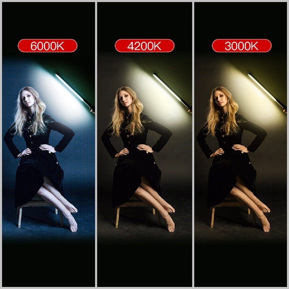 LED Photography Lighting Wand RGB APP Control Studio Video Lamp Ice Light Stick,36000 Colors, 12 Light Effects, 2500-6500K NEW enlarge