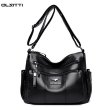 OLSITTI High Quality Pu Leather Shoulder Bags for Women 2021 New Multiple Zippers Designer Fashion S