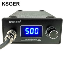 Ksger t12 납땜 스테이션 stm32 디지털 컨트롤러 abs 케이스 907 납땜 인두 핸들 자동 슬립 부스트 모드 가열 t12 팁