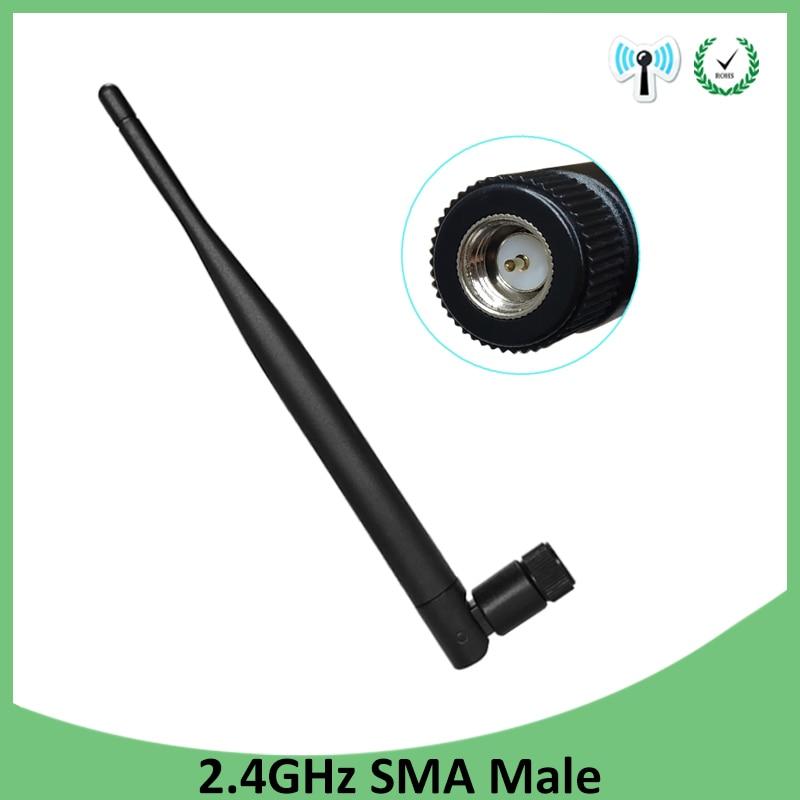 1 Uds 2,4 GHz antena WIFI 5dbi aérea conector macho SMA wi-fi antena de 2,4 ghz antenne wi-fi Router inalámbrico para antenas
