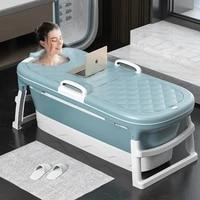 portable folding bathtub solid color non slip adult children swimming pool large barrel sweat steaming bathtub winter hot sale