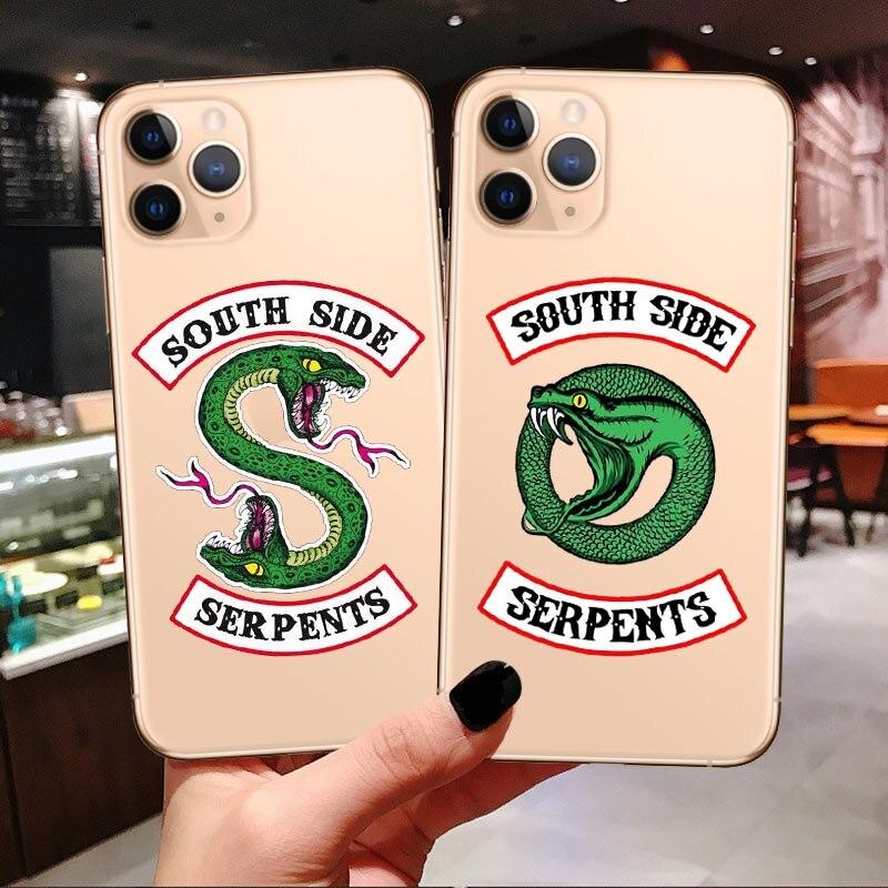 Funda American TV Riverdale de silicona para iPhone 6 6S 7 8 Plus XS MAX XR x serpientes del Sur para iPhone 11 Pro Max