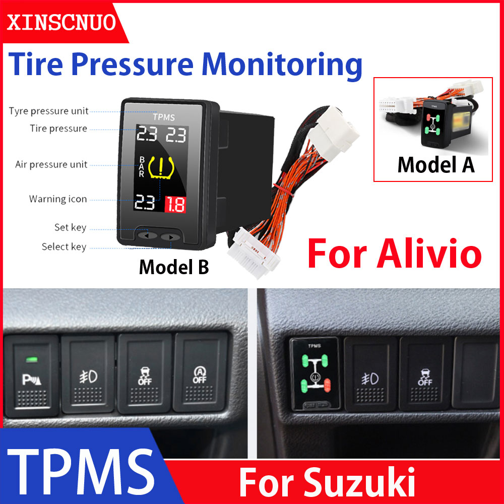 Car Electronics OBD TPMS For Suzuki Alivio tyre pressure monitor security alarm system car modificat