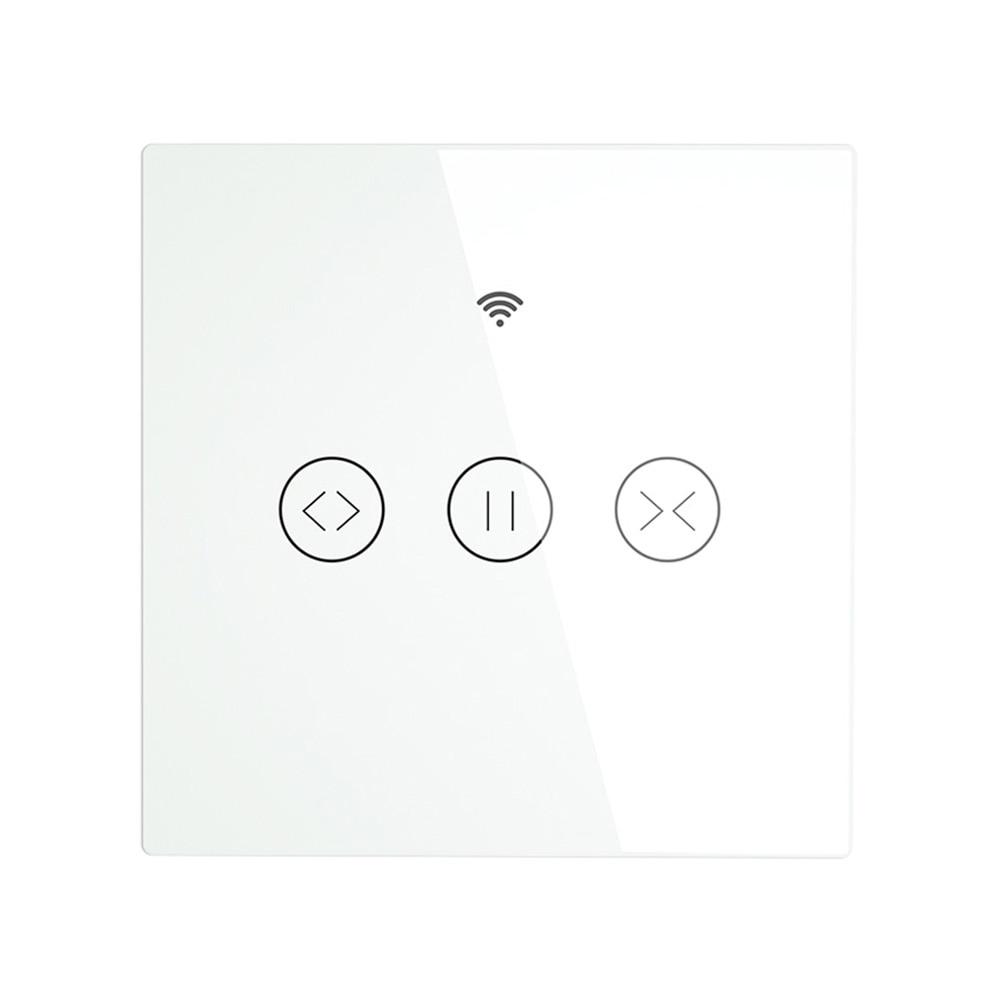 WiFi RF433 الذكية لوحة اللمس بكرة ستائر مصراع التبديل الستائر الحياة الذكية App التحكم عن بعد يعمل مع اليكسا Echo