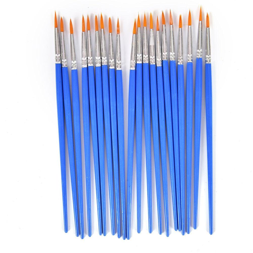 10pcs Professional Paintbrush Oil Acrylic Brush Watercolor Pen Nylon Hair Wooden Handle Paint Brushes School Office Art Supplies