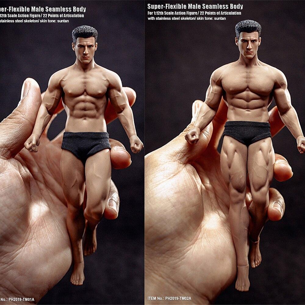 1/12 escala esboçando soldado boneca tm01a tm02a super-flexível sem costura músculo corpo masculino com cabeça escultura 6 figure figure figura de ação