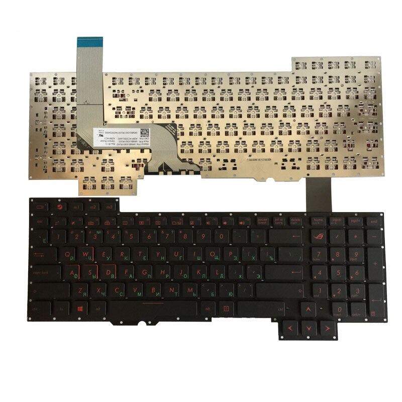Новая русская клавиатура для Asus G751 G751JM G751JT G751JY 0KNB0-E601RU00 ASM14C33SUJ442 RU Клавиатура для ноутбука без рамки